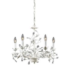 Circeo 5 Light Chandelier In Antique White