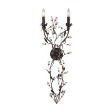 Circeo 2 Light Wall Sconce In Deep Rust