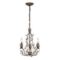 Sagemore 3 Light Chandelier In Bronze Rust