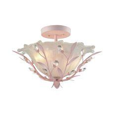 Circeo 2 Light Semi Flush In Light Pink