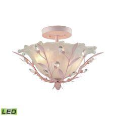 Circeo 2 Light Led Semi Flush In Light Pink