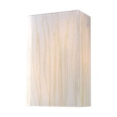 Modern Organics 2 Light Sconce In Polished Chrome And White Sawgrass