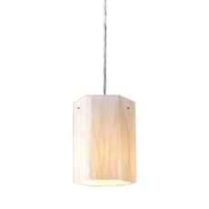 Modern Organics 1 Light Pendant In Polished Chrome And White Sawgrass