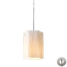 Modern Organics 1 Light Pendant In Polished Chrome And White Sawgrass - Includes Recessed Lighting Kit