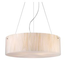 Modern Organics 5 Light Pendant In Polished Chrome And White Sawgrass