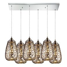 Nestor 6 Light Pendant In Polished Chrome