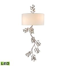 Winterberry 2 Light Led Wall Sconce In Antique Darkwood