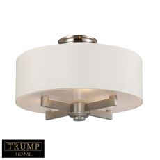 Seven Springs 3 Light Semi Flush In Satin Nickel