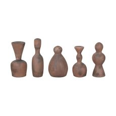 Terra Cotta Artifacts Ii In Aged Terra Cotta - Set Of 5, Aged Terracotta