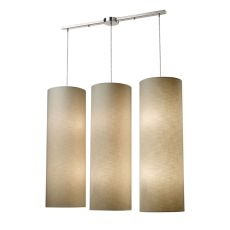 Fabric Cylinder 12 Light Pendant In Satin Nickel