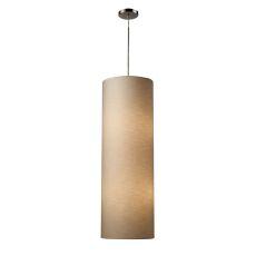 Fabric Cylinder 4 Light Pendant In Satin Nickel