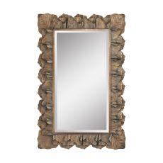 Cheltemham Leaf Mirror, Aged Gold