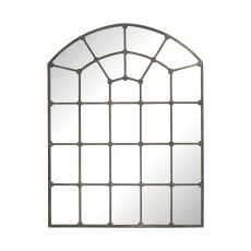 Parisian Loft Window Pane, Aged Iron