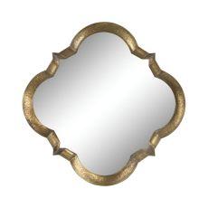 Aged Silver Quatrefoil Mirror, Aged Silver
