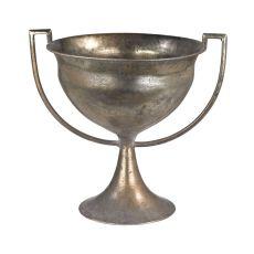 Metal Trophy Urn, Natured Aged