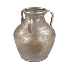 Metal Water Jug Vase, Natured Aged