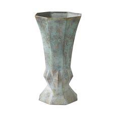 Geometric Patina Vase, Patina