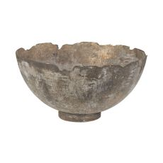 Jagged Mouth Metal Bowl, Natured Aged