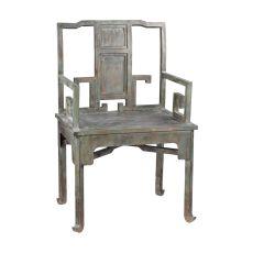 Metal Tang Chair, Aged Metal