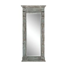Neo Classical Column Mirror, Aged Wood, Patina