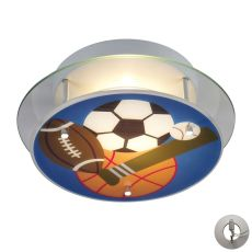 Novelty 2 Light Sports Themed Semi Flush With Recessed Lighting Kit