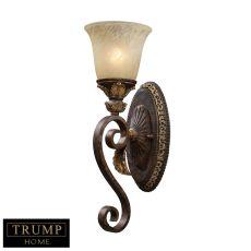 Regency 1 Light Vanity In Burnt Bronze And Gold Leaf