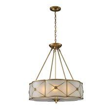 Preston 6 Light Pendant In Brushed Brass
