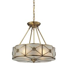 Preston 4 Light Pendant In Brushed Brass
