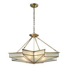 Decostar 8 Light Pendant In Brushed Brass