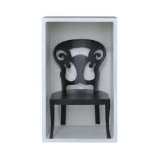 Artifacts Chair Shadow Box In Grain De Bois Noir Wall D