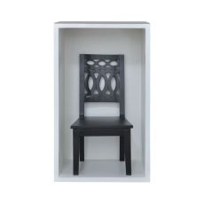 Swedish Chair Shadow Box In Grain De Bois Noir Wall D