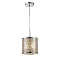 Medina 1 Light Pendant In Polished Stainless Steel