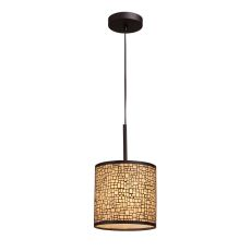 Medina 1 Light Pendant In Aged Bronze With Amber Diffuser