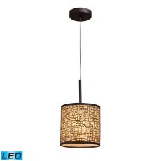 Medina 1 Light Led Pendant In Aged Bronze