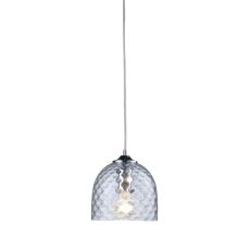 Viva 1 Light Pendant In Polished Chrome And Clear Glass