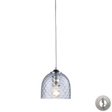 Viva 1 Light Pendant In Polished Chrome And Clear Glass - Includes Recessed Lighting Kit