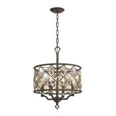 Armand 4 Light Pendant In Weathered Bronze