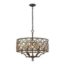 Armand 6 Light Pendant In Weathered Bronze