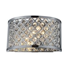 Genevieve 2 Light Wall Sconce In Polished Chrome