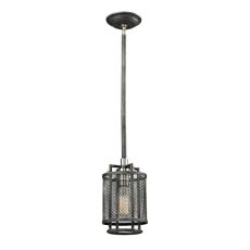 Slatington 1 Light Pendant In Silvered Graphite And Brushed Nickel