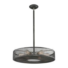 Slatington 6 Light Semi Flush In Silvered Graphite And Brushed Nickel