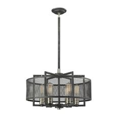 Slatington 6 Light Chandelier In Silvered Graphite And Brushed Nickel