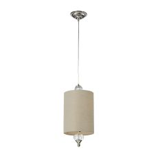 Dalton 1 Light Pendant In Polished Nickel And White