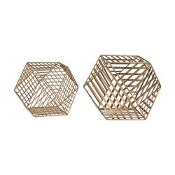 Gold Metallic Wire Dodecahedron