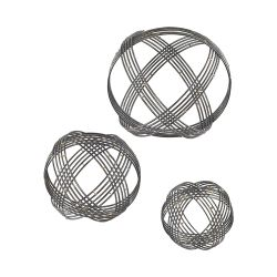Warp Wall Decor In Soldered Raw Iron - Set Of 3