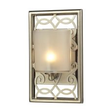 Santa Monica 1 Light Vanity In Aged Silver