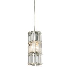 Cynthia 1 Light Pendant In Polished Chrome And Clear K9 Crystal
