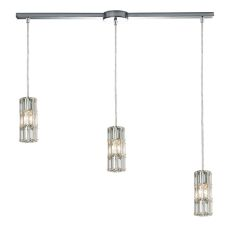Cynthia 3 Light Pendant In Polished Chrome And Clear K9 Crystal