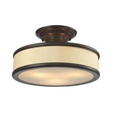 Clarkton 3 Light Semi Flush In Oil Rubbed Bronze