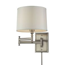 Swingarms 1 Light Swingarm Sconce In Brushed Nickel